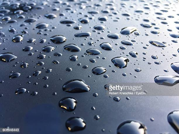 Full Frame Shot Of Water Drops On Surface