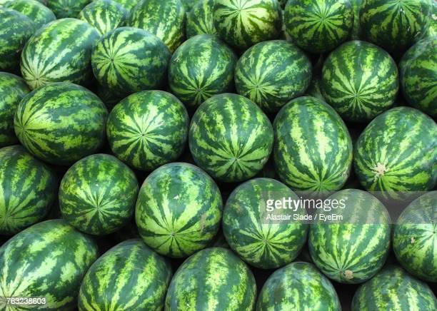full frame shot of watermelons - large group of objects stock pictures, royalty-free photos & images