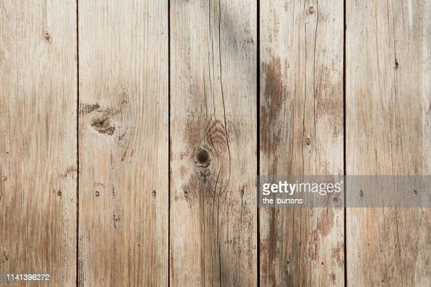 full frame shot of weathered, old wooden wall with shadow of a trees - holz stock-fotos und bilder