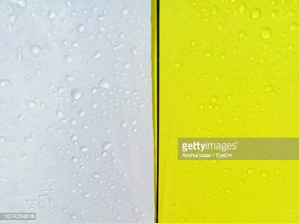 Full Frame Shot Of Wet Colorful Wall