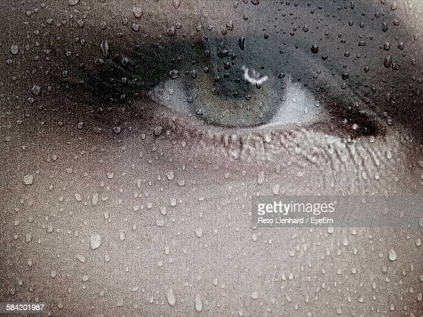 full frame shot of wet eye painting - lienhard stock pictures, royalty-free photos & images