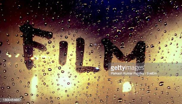 full frame shot of wet glass window in rainy season - chandigarh stock pictures, royalty-free photos & images