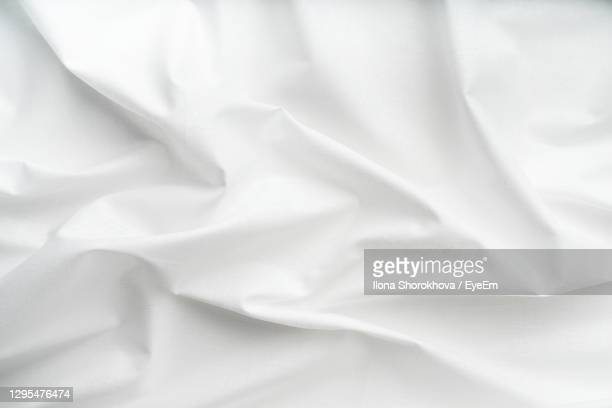 full frame shot of white bed - tarpaulin stock pictures, royalty-free photos & images