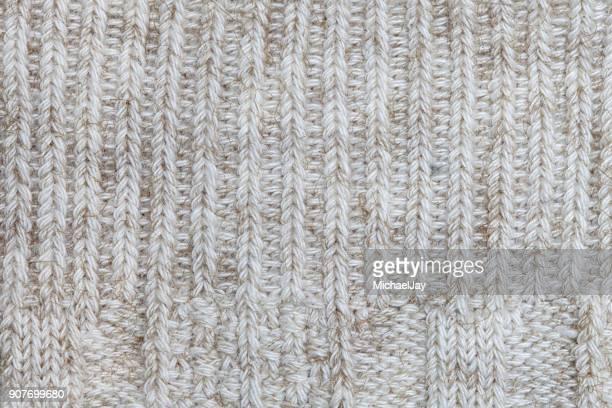 Full Frame Shot Of White Braided Wool