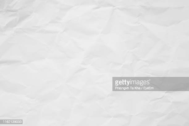 full frame shot of white crumbled paper - full frame stock pictures, royalty-free photos & images