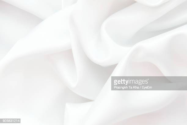 full frame shot of white fabric - softness stock pictures, royalty-free photos & images