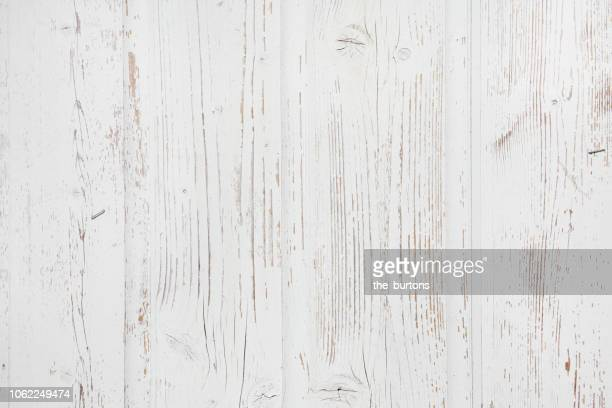 full frame shot of white painted wooden wall - white wood stock pictures, royalty-free photos & images