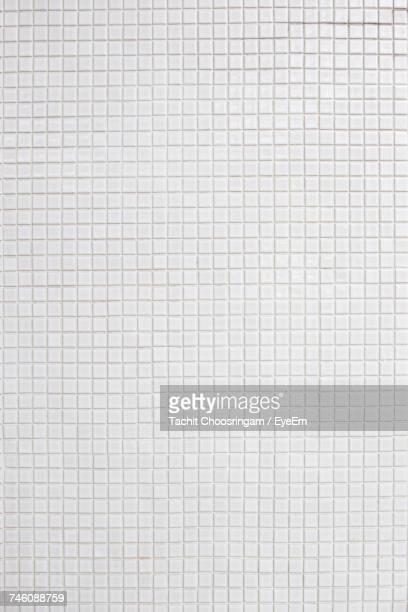 Full Frame Shot Of White Tiled Wall