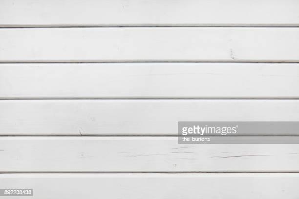 Full frame shot of white wooden wall