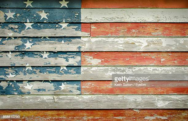 full frame shot of wooden american flag wall - patriotic stock pictures, royalty-free photos & images