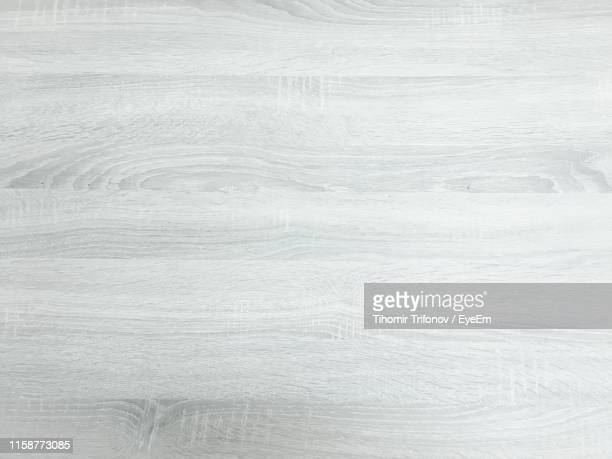 full frame shot of wooden table - white wood stock pictures, royalty-free photos & images