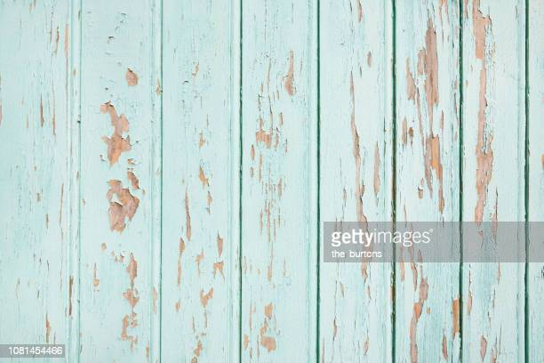 Full frame shot of wooden turquoise painted wall