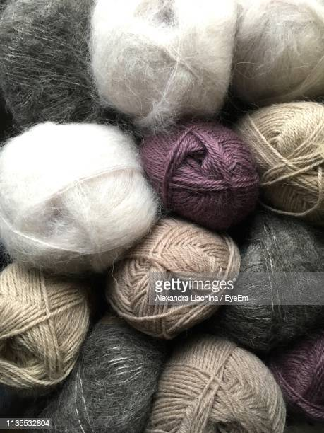 Full Frame Shot Of Wool Balls