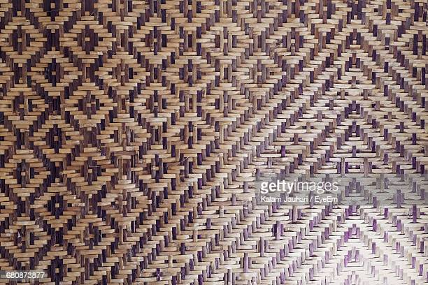 Full Frame Shot Of Woven Bamboo Mat
