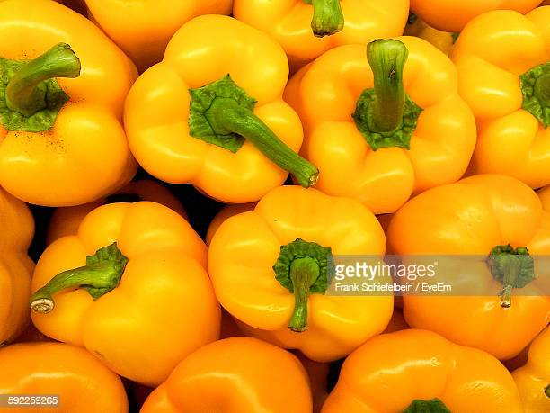 full frame shot of yellow bell peppers - yellow bell pepper stock pictures, royalty-free photos & images