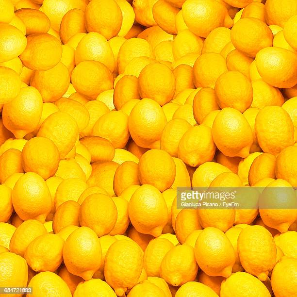 Full Frame Shot Of Yellow Lemons