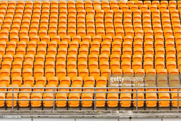 full frame shot of yellow metallic structure - baseball stadium stock pictures, royalty-free photos & images