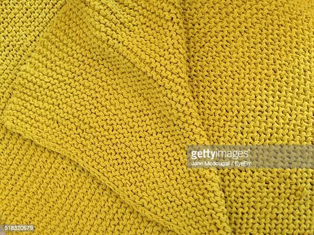 Full Frame Shot Of Yellow Sweater