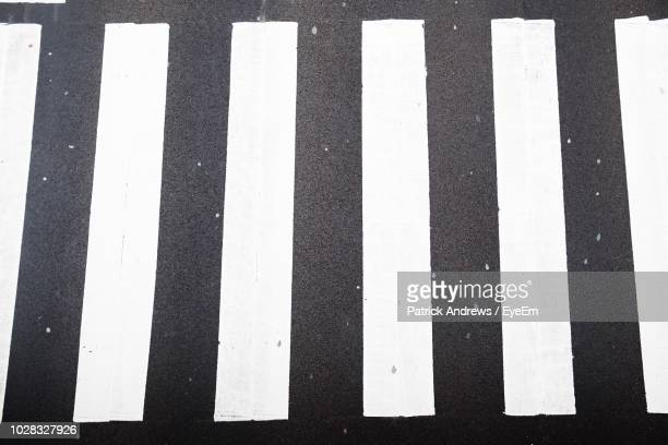 full frame shot of zebra crossing - zebra crossing stock pictures, royalty-free photos & images