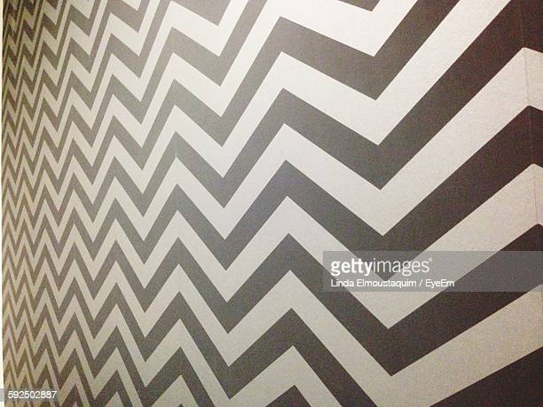 Full Frame Shot Of Zigzag Patterned Wall