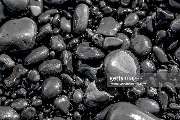 Full Frame Shot Wet Pebbles