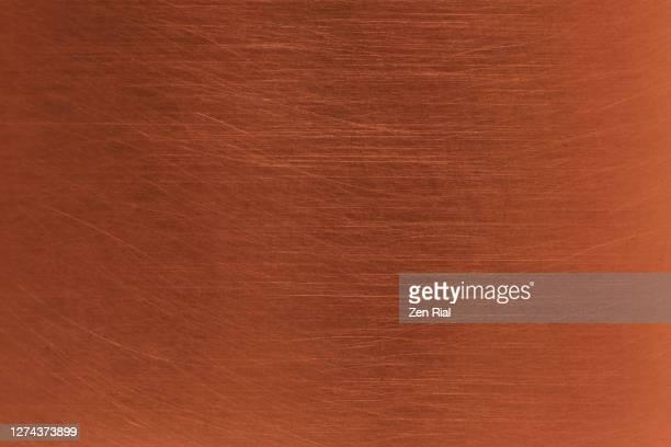 full frame side of a newly polished copper cooking pot - cobre imagens e fotografias de stock