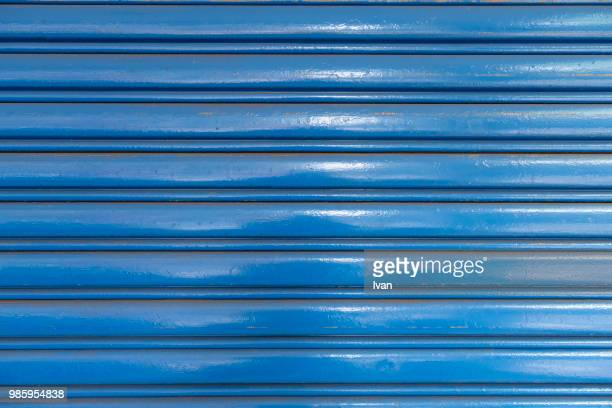 Full Frame texture, Blue Shutter Textured Roll-Up Door