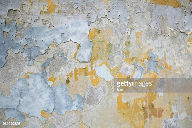Full Frame Texture, Weathered old concrete wall, cracked, rust streaked, detail