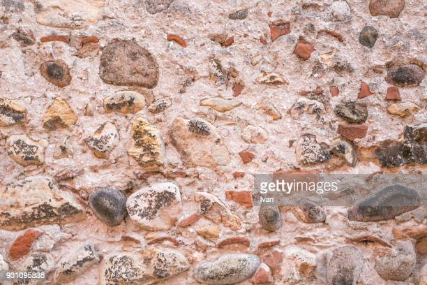 full frame texture, weathered stone wall, cement wall - paving stone stock pictures, royalty-free photos & images