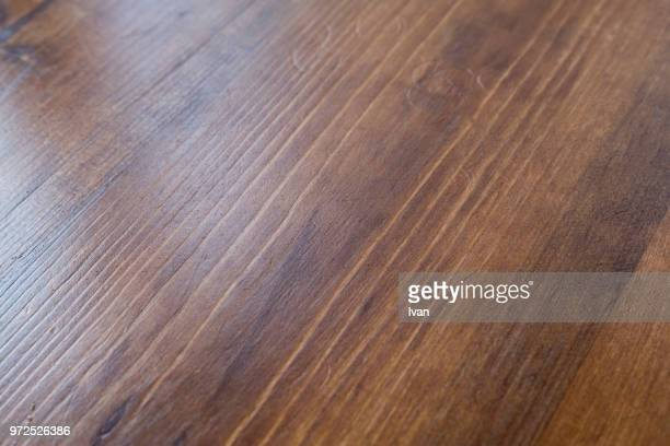 full frame texture, wooden table with scratches - テーブル ストックフォトと画像