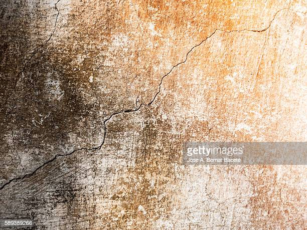 Full Frame textures painted cement wall, cracked