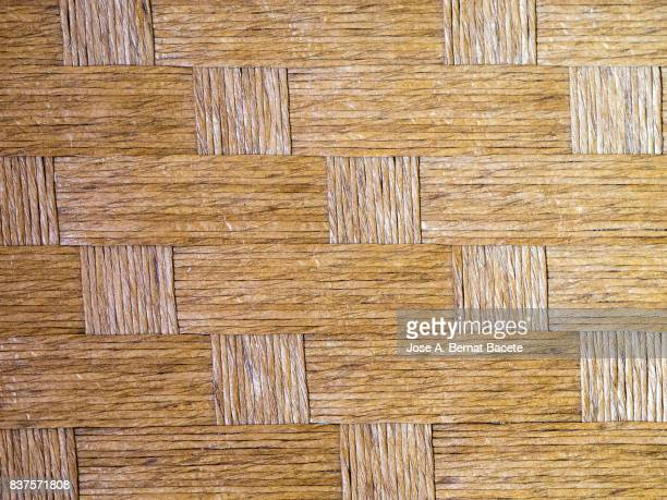 Full Frame  textures Shot of Wicker, In the shape of pictures and plaited