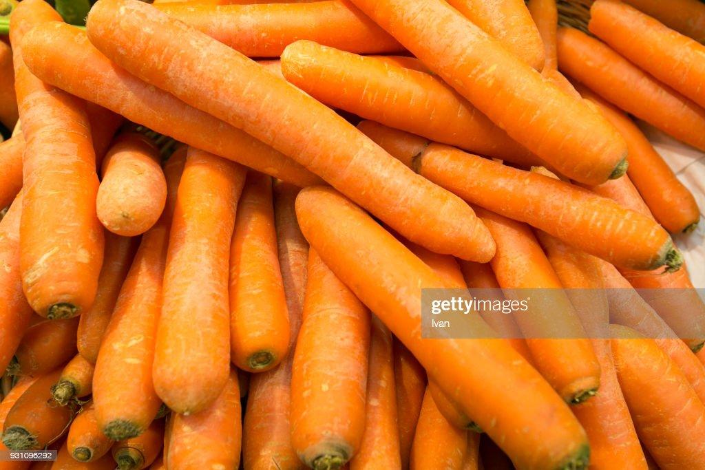 Full Frame Vegetable Texture Bundles Of Organic Carrots Stock Photo ...