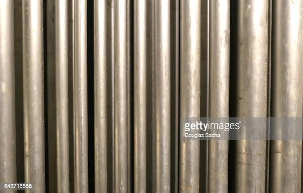 Full frame, vertical electrical conduit piping