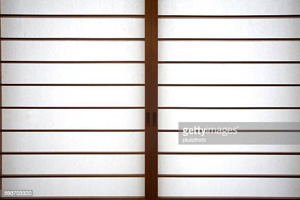 full frame view of traditional shoji sliding doors - plusphoto stock pictures, royalty-free photos & images