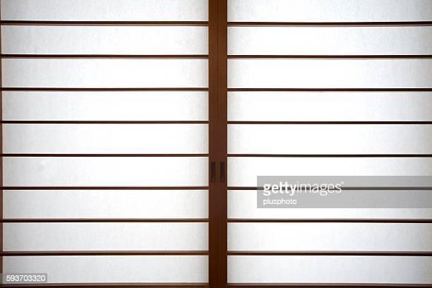 Full Frame View of Traditional Shoji Sliding Doors