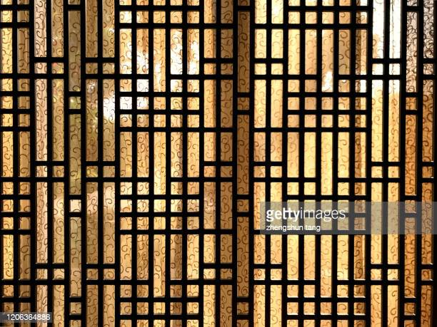 full frame view of window at south putuo temple, xiamen, china. - shanghai stock pictures, royalty-free photos & images