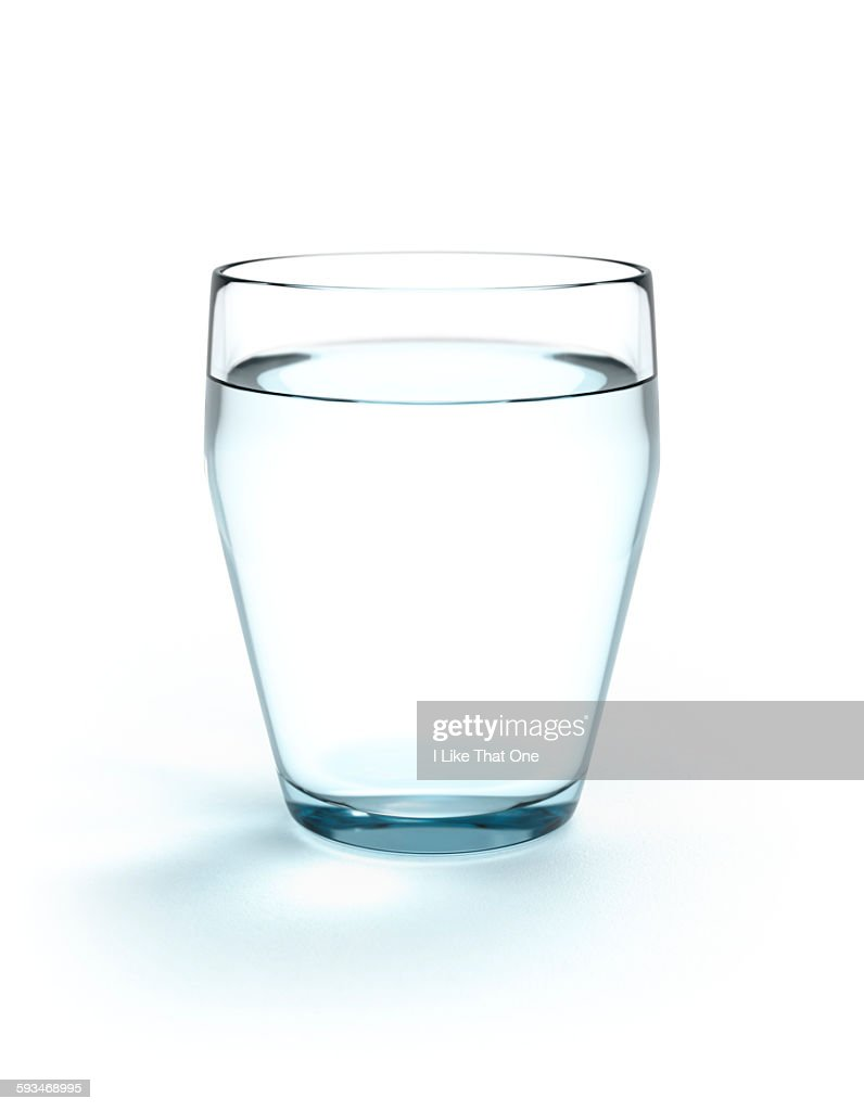 Full glass of drinking water : Stock Photo