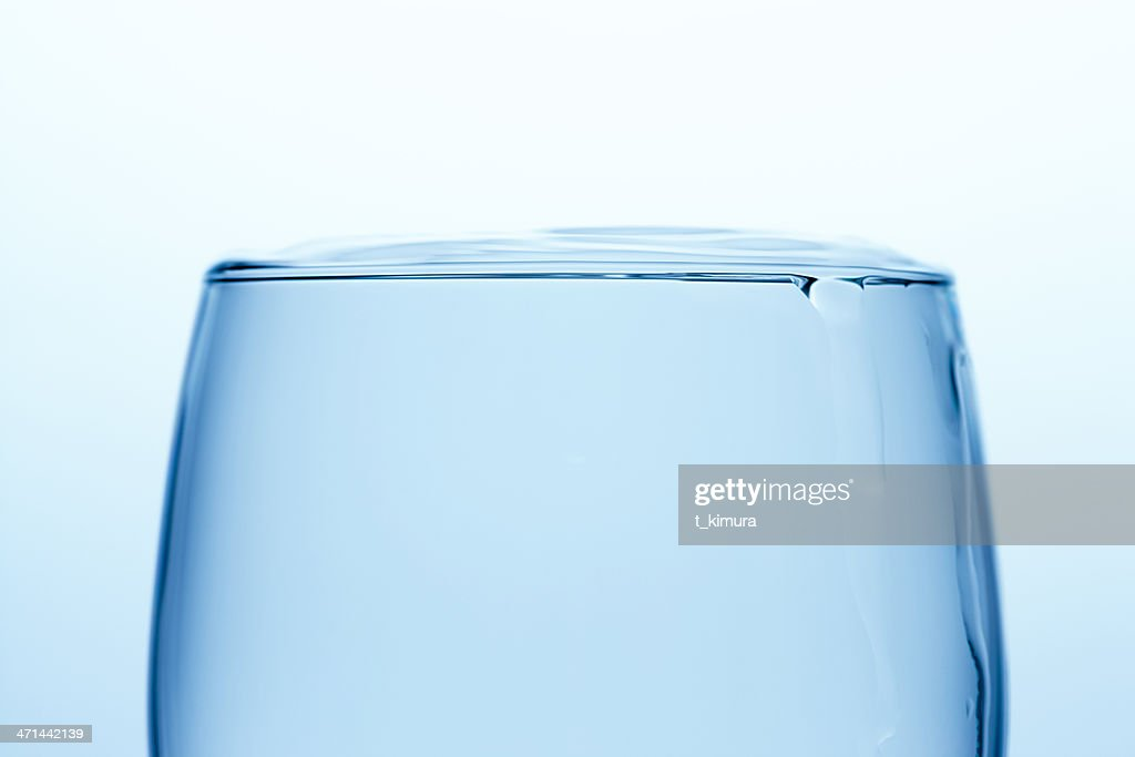 Full glass of water : Stock Photo