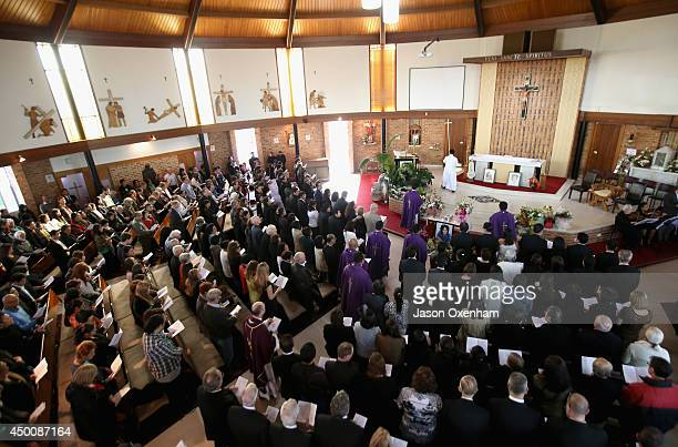 A full house at the Requiem Mass for Blessie Gotingco at St Mary's Catholic Church on June 5 2014 in Auckland New Zealand Blessie Gotingco went...