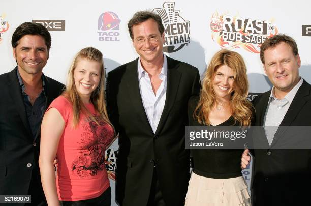 Full House cast members John Stamos Jodie Sweetin Bob Saget Lori Loughlin and Dave Coulier attend Comedy Central's Roast of Bob Saget at Warner...