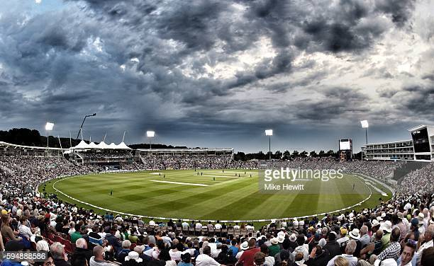 A full house enjoys the 1st One Day International between England and Pakistan at the Ageas Bowl on August 24 2016 in Southampton England
