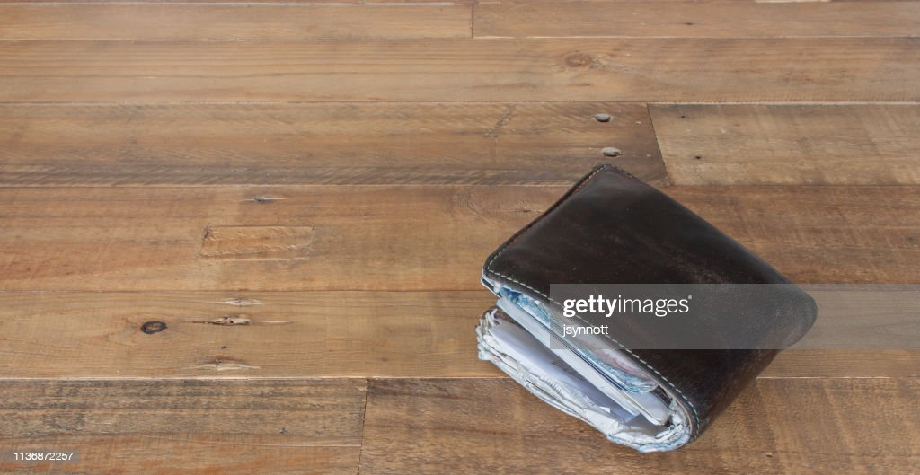 Full leather wallet : Stock Photo