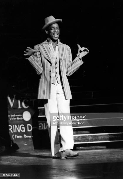 Full length portrait of a dancer on stage in the Broadway Show 'Bubbling Brown Sugar' at the ANTA Theatre on Broadway, New York, New York, July 28,...