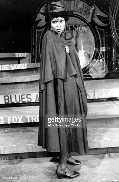 Full length portrait of actress Vivian Reed on stage performing in the Broadway Musical 'Bubbling Brown Sugar' at the ANTA Theatre, New York, New...