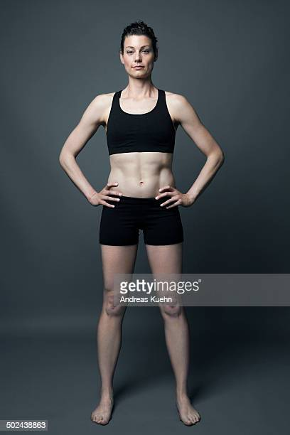 Full Length portrait of athletic woman.