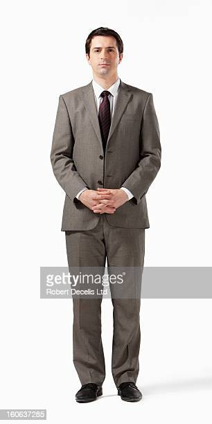 Full length portrait of business man in suit