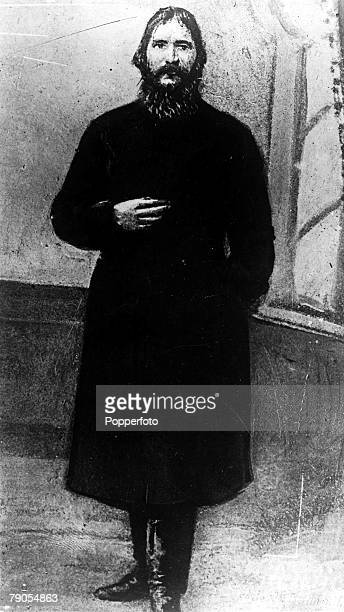 A full length portrait of Grigori Efimovich Rasputin the Russian peasant and selfstyled religious elder who gained the confidence of Russian royalty...