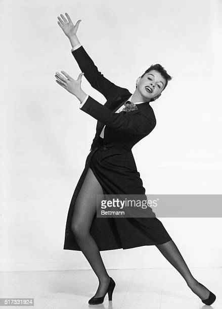 Full length portrait of Judy Garland American singer and actress Undated photograph