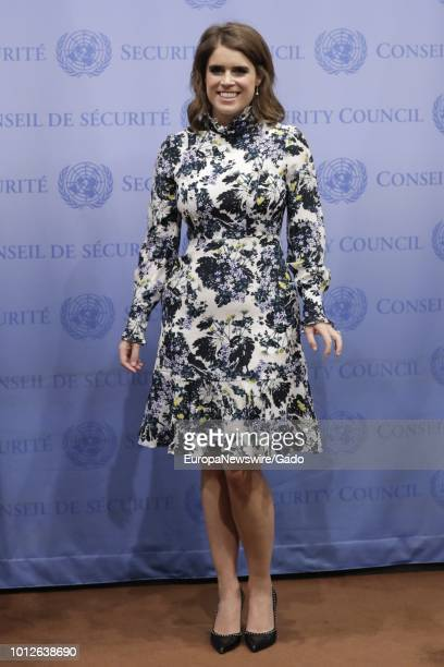 Full length portrait of Princess Eugenie of York at the United Nations New York City New York July 26 2018